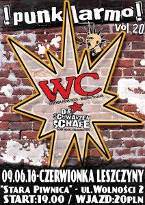 Stara Piwnica w Czerwionce: Punk Larmo ! vol. 20 - WC / Die Schwarzen Schafe @ Czerwionka-Leszczyny | śląskie | Polska