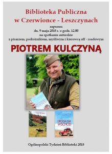 Biblioteka Publiczna w Czerwionce-Leszczynach: Spotkanie autorskie z Piotrem Kulczyną @ Polska