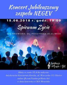 Gliwice: Koncert Jubileuszowy zespołu NEGEV @ Gliwice | śląskie | Polska