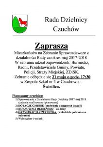 Czerwionka-Leszczyny: Zebranie Sprawozdawcze z działalności Rady Dzielnicy Czuchów