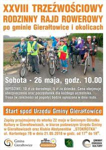 Gierałtowice: XXVIII Trzeźwościowy Rodzinny Rajd Rowerowy @ Gierałtowice | śląskie | Polska