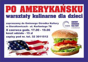 GOK Gierałtowice: Warsztaty kulinarne dla dzieci - po amerykańsku @ Gierałtowice | śląskie | Polska