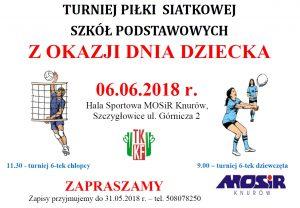 MOSiR Knurów: Turniej Piłki Siatkowej Szkół Podstawowych z okazji Dnia Dziecka - 6.06.2018 @ Knurów | śląskie | Polska