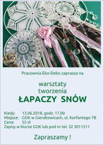 GOK Gierałtowice: Warsztaty tworzenia Łapaczy Snów @ Gierałtowice | śląskie | Polska