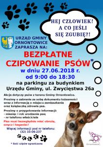 Ornontowice: Bezpłatna akcja czipowania psów @ Ornontowice | śląskie | Polska