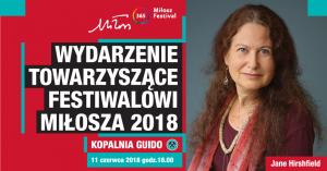Kopalnia Guido Zabrze: Spotkanie z Jane Hirshfield, gościem Festiwalu Miłosza 2018 @ Zabrze | śląskie | Polska