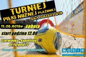 MOSiR Czerwionka-Leszczyny: Turniej Piłki Nożnej Plażowej dla dzieci do lat 13 @ Czerwionka-Leszczyny | śląskie | Polska