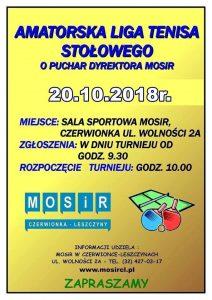 MOSiR Czerwionka-Leszczyny: Amatorska Liga Tenisa Stołowego o Puchar Dyrektora MOSiR @ Czerwionka-Leszczyny | śląskie | Polska