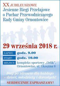Ornontowice: XX Jubileuszowe Biegi Przełajowe o Puchar Przewodniczącego Rady Gminy Ornontowice @ Ornontowice | śląskie | Polska