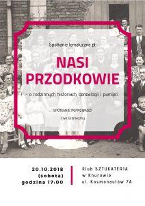Knurów: NASI PRZODKOWIE - spotkanie z Ewą Granieczny @ Knurów | śląskie | Polska