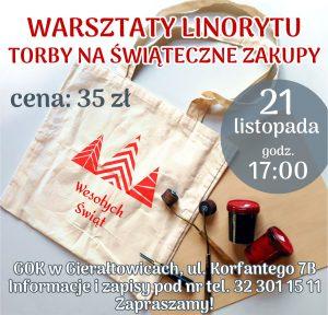 GOK Gierałtowice: Warsztaty Linorytu Torby na Świąteczne Zakupy @ Gierałtowice | śląskie | Polska