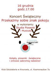 """Knurów: Koncert Świąteczny pt. """"Przekażmy sobie znak pokoju"""" w Sztukaterii"""