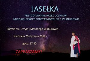 Parafia św. Cyryla i Metodego w Knurowie: Przedstawienie Jasełkowe przez uczniów z MSP 1