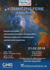 Dom Kultury Knurów-Szczygłowice: Kosmiczne ferie ( dzieci w wieku 6-9 lat)