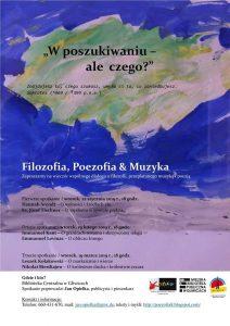 Gliwice: Filozofia, Poezofia&Muzyka