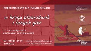 Czerwionka-Leszczyny: W kręgu planszówek i innych gier – Ferie na Familokach