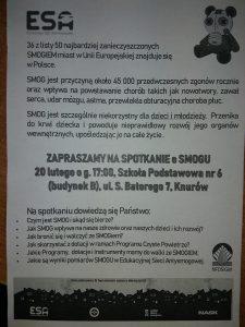MSP 6 w Knurowie: Zachęca do udziału w spotkaniu dotyczącym smogu
