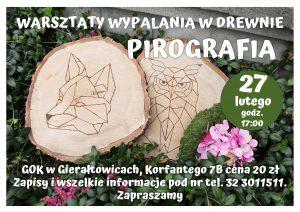 GOK Gierałtowice: Warsztaty pirografii