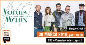 CKE Czerwionka-Leszczyny: Varius Manx & Kasia Stankiewicz – koncert