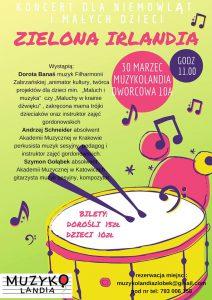 Knurów: Koncert dla niemowląt i małych dzieci Zielona Irlandia – 30 marca