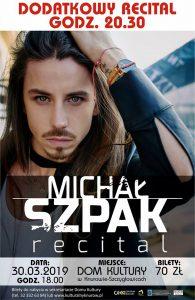 Knurów: Recital Michała Szpaka - dwukrotnie w DK Szczygłowice