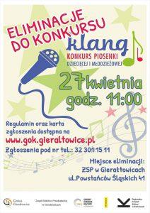 Gierałtowice: Eliminacje do konkursu piosenki dziecięcej i młodzieżowej KLANG