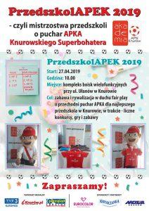 Knurów: PrzedszkolAPEK 2019