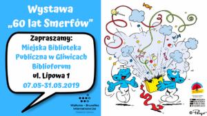 """Gliwice: Wystawa """"60 lat Smerfów"""" w Biblioforum"""