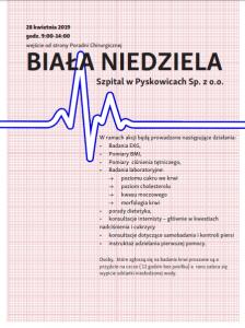 """""""Biała niedziela"""" w Szpitalu w Pyskowicach"""