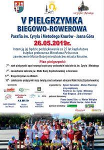 Knurów-Jasna Góra: V Pielgrzymka Biegowo-Rowerowa