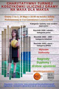 Czerwionka-Leszczyny: Charytatywny turniej koszówki ulicznej gramy na maxa dla Maksa