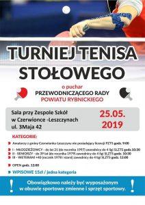 Czerwionka-Leszczyny: Turniej tenisa stołowego o puchar Przewodniczącego Rady Powiatu Rybnickiego