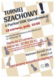 GOK Gierałtowice: Turniej Szachowy