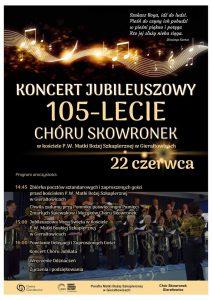 Gierałtowice: Koncert Jubileuszowy 105-lecie Chóru Skowronek