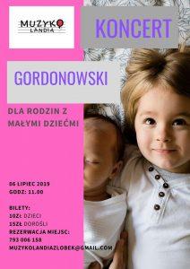 Knurów: Muzykolandia zaprasza na koncert Gordonowski