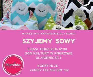 Dom Kultury Knurów-Szczygłowice: Szyjewy Sowy - warsztaty krawieckie dla dzieci