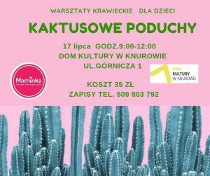 Dom Kultury Knurów-Szczygłowice: Kaktusowe poduchy - warsztaty krawieckie