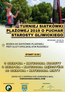 Rudziniec: Turniej siatkówki plażowej o Puchar Starosty Gliwickiego 2019 (KATEGORIA KOBIET)