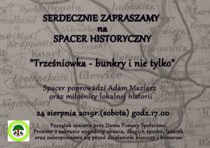 """Pilchowice: Spacer historyczny """"Trześniowka- bunkry i nie tylko"""""""