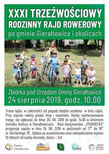 Gierałtowice:  XXXI Trzeźwościowy Rodzinny Rajd Rowerowy po Gminie Gierałtowice i okolicach