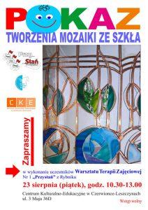 """CKE Czerwionka-Leszczyny: """"Pokaz Tworzenia Mozaiki ze Szkła"""""""