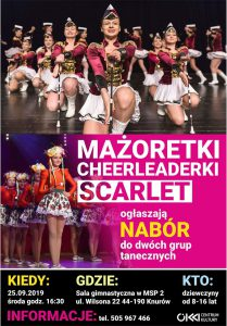 Knurów: Mażoretki, cheerleaderki, scarlet - nabór do dwóch grup tanecznych