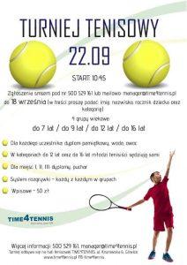 Gliwice: Turniej tenisowy - TIME4KIDS