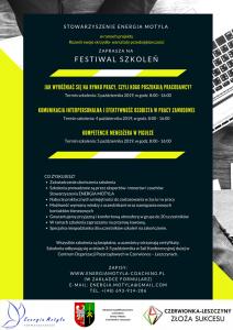 Czerwionka-Leszczyny: Festiwal Szkoleń w ramach projektu Rozwiń swoje skrzydła – warsztaty przedsiębiorczości