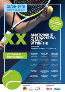 Gliwice: XX Amatorskie Mistrzostwa Gliwic w Tenisie o Puchar Prezydenta Miasta Zygmunta Frankiewicza