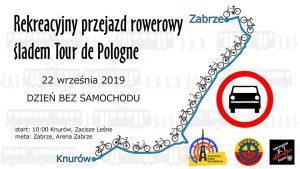 Knurów/Zabrze: Rekreacyjny przejazd rowerowy śladem TdP z okazji Dnia bez Samochodu.