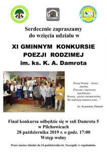 Pilchowice:  XI gminny konkurs poezji rodzimej im. ks. A. Damrota