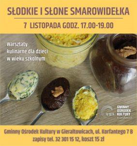 GOK Gierałtowice: Słodkie i słone smarowidełka -warsztaty kulinarne