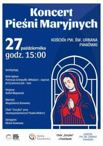 Paniówki: Koncert Pieśni Maryjnych
