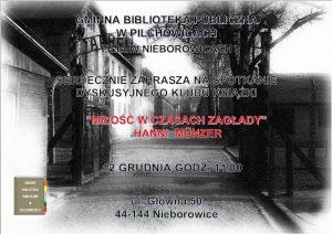 """Nieborowice: Spotkanie dyskusyjne klubu książki """"Miłość w czasach zagłady"""""""
